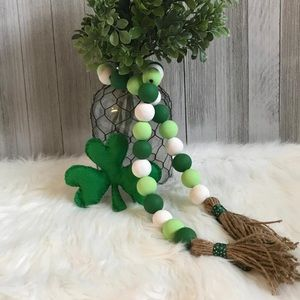 St Patrick's day wooden beaded garland